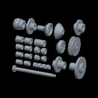 Дополнительный комплект Luxe для балансировки мотоциклетных колес КС-225-01